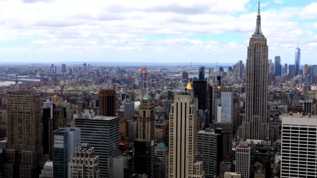 Timelapse aerial of midtown Manhattan area video