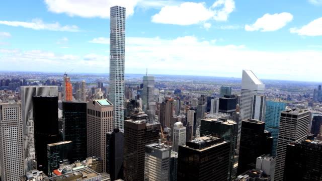 Timelapse aerial of midtown Manhattan, New York region video