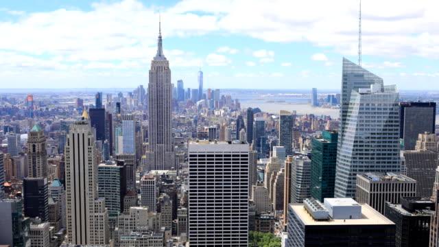 Timelapse aerial of midtown Manhattan, New York video