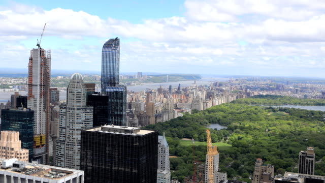 Timelapse aerial of midtown Manhattan region video