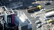 HD Time-lapse: Aerial Pedestrians cross at Tokyo downtown Crossing video