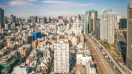 Time-lapse: aerial Tokyo Cityscape video