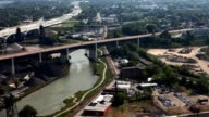 Timelapse aerial view of Cleveland video