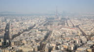4K Timelapse: Aerial view of Eiffel Tower and Paris cityscape video