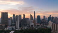 Time-lapse Aerial view of modern building in business zone in Bangkok,Thailand. video