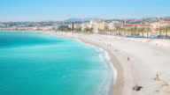 4K Time-lapse: Aerial View of Nice Harbour French Riviera France video