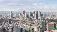 Time-lapse: aerial View of Shinjuku Tokyo Cityscape video
