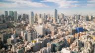 Time-lapse: aerial View of Shinjuku Tokyo Cityscape video
