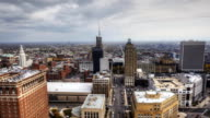 Timelapse aerial view of the city of Buffalo video