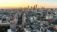 Time-lapse: aerial View of Tokyo Cityscape and skyline from Bunkyo video