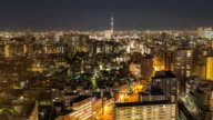 Time-lapse: aerial View of Tokyo skytree and Cityscape from Bunkyo video