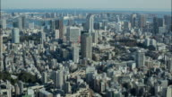 4K Time-lapse: Aerial view Tokyo cityscape Japan video