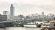 Time-lapse: aerial view Tokyo skyline cityscape video