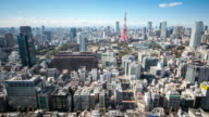 Time-lapse: Aerial view Tokyo tower Japan video
