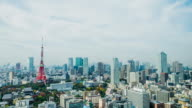 Time-lapse : Aerial view Tokyo tower Japan video