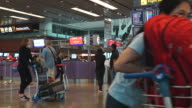 Timelapse airport singapore video