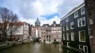 time-lapse: Amsterdam Canal Church of Saint Nicholas video
