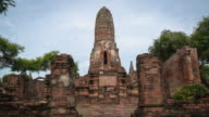time-lapse ancient temple in ayutthaya video