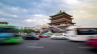 Time-lapse: ancient Xian bell tower Chonglou China video
