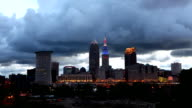 Timelapse as night Falls in Cleveland, Ohio video