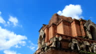 Timelapse at Chedi Luang temple, Chiang mai, Thailand video