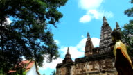 Timelapse at JED YOD temple, Chiang mai, Thailand video