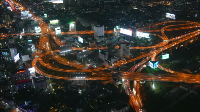 HD Timelapse bangkok city at night video