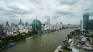 4K Time-lapse Beautiful architecture in bangkok city around Chao Phraya river video