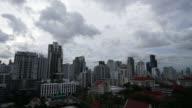 4K Time-lapse Beautiful bangkok city skyline in Thailand video