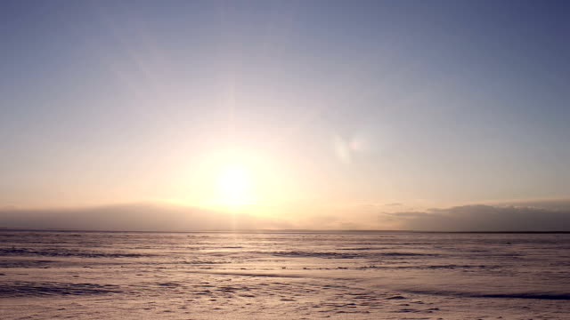 Time-lapse Beautiful Sunset on Arctic Alaska  Winter video