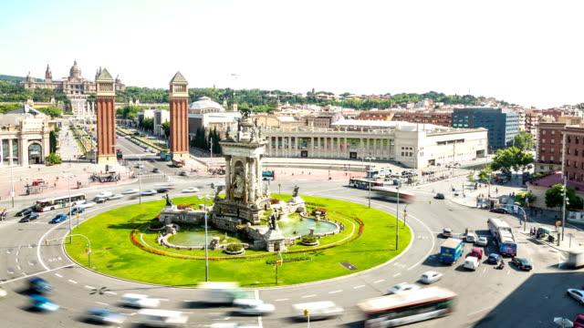 HD Time-lapse: Becelona Espana plaza Town square Spain video