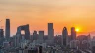 Timelapse- Beijing Sunset (Panning) video