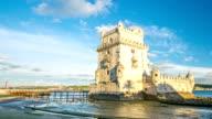 HD Timelapse: Belem Tower ay Lisbon Portugal video