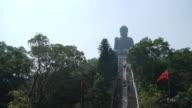 4K Timelapse : big buddha at hong kong city video