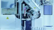 Timelapse : Blood test machine in laboratory video