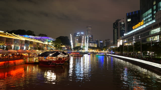 Time-lapse Boay quay area at singapore video