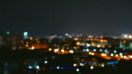 HD Timelapse - Bokeh light of the city video
