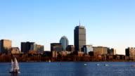 Timelapse Boston city center and harbor video