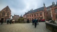 time-lapse: Bruges city hall Belgium video