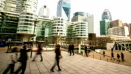 HD Time-lapse: Businessman crowded at La Defense in Paris France video