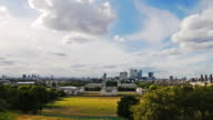 Time-lapse. Canary Wharf and Greenwich park video