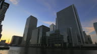 Time-lapse. Canary wharf day to night HD video video