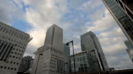 Time-lapse. Canary wharf video