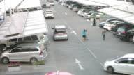 Timelapse car parking video