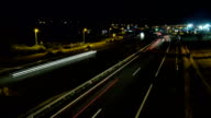 Timelapse - Cars moving at night video