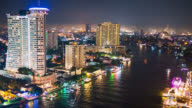 Timelapse Chaopraya river view, Bangkok, Thailand video