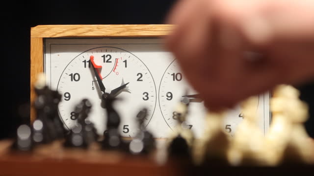 Timelapse chess match video