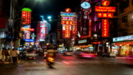 HD Timelapse : China town at night video