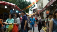 Timelapse China town at singapore video