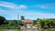 4K Timelapse: Chinese Shrine near the river. video